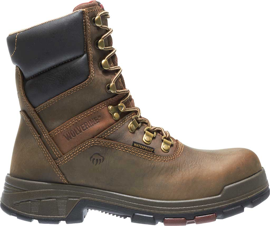 """Men's Wolverine Cabor EPX PC Dry Waterproof 8"""" Composite Toe Boot, Dark Brown, large, image 2"""