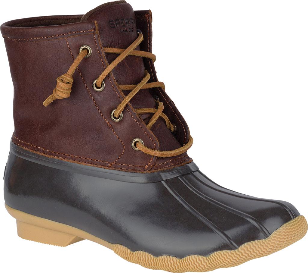 Women's Sperry Top-Sider Saltwater Duck Boot, Tan/Dark Brown, large, image 1