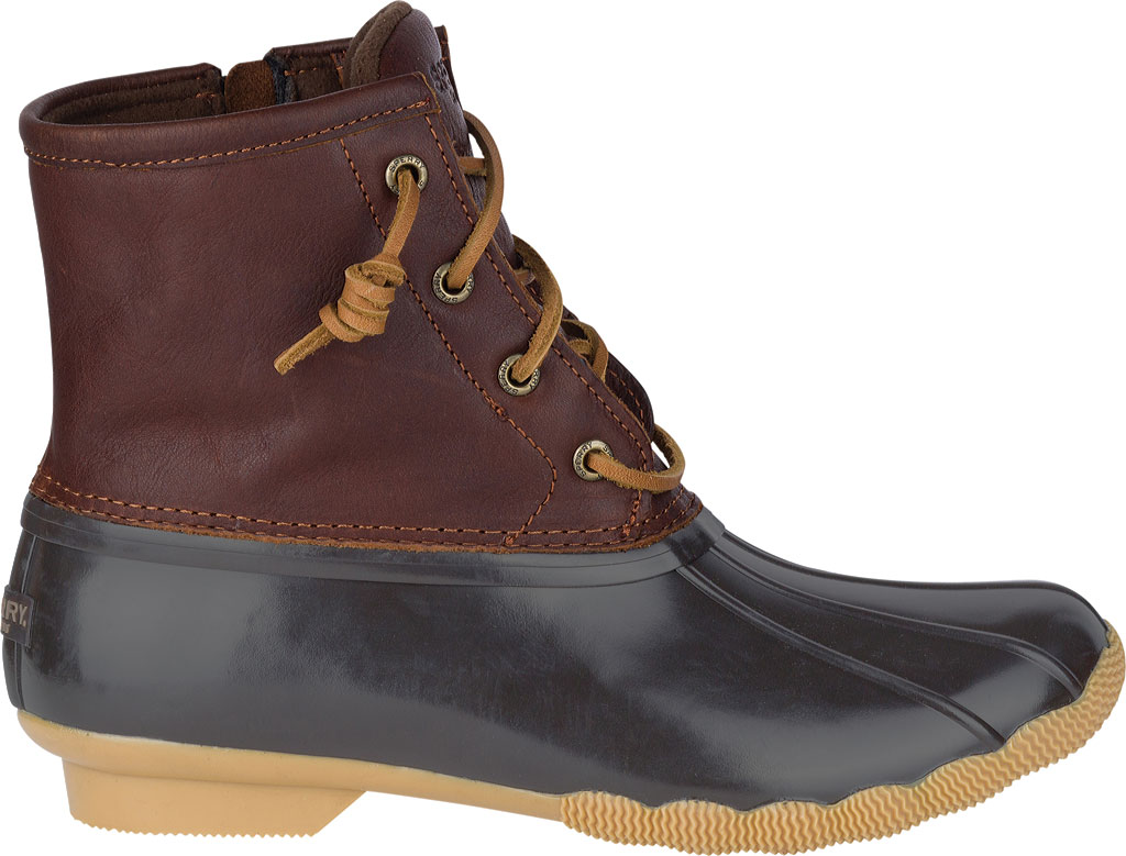 Women's Sperry Top-Sider Saltwater Duck Boot, Tan/Dark Brown, large, image 2