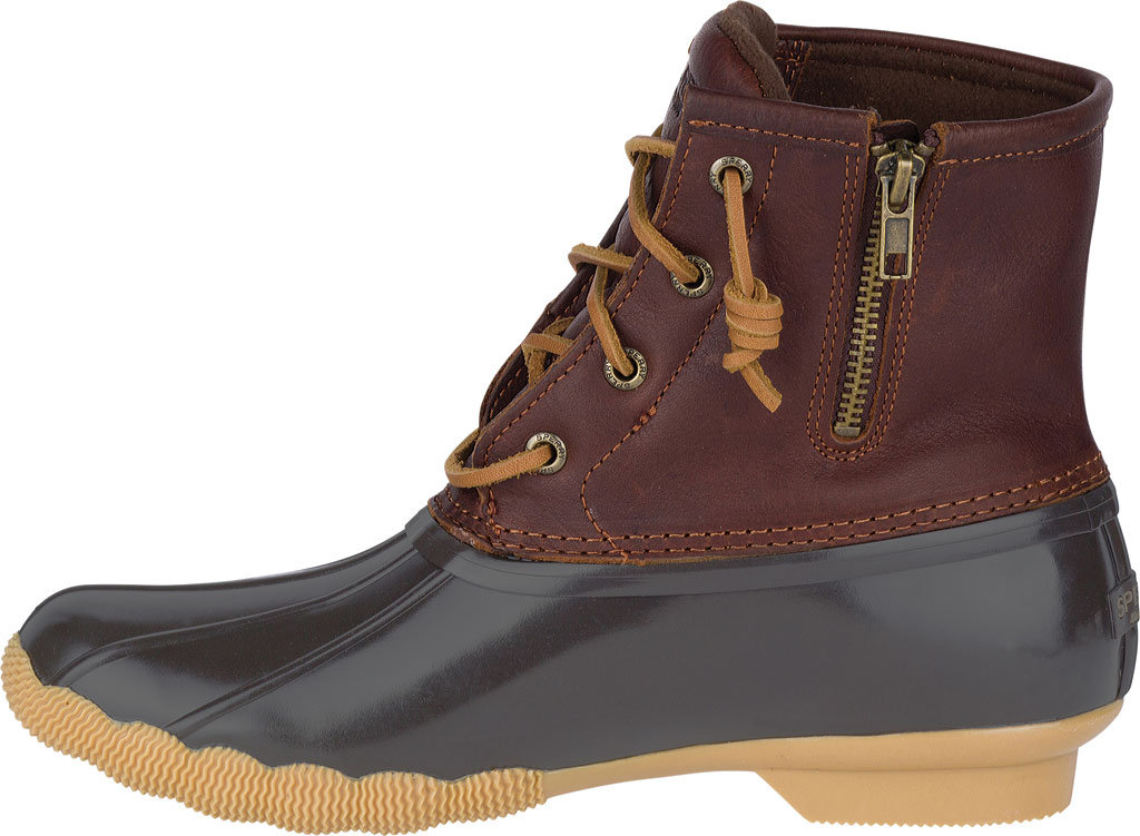 Women's Sperry Top-Sider Saltwater Duck Boot, Tan/Dark Brown, large, image 3