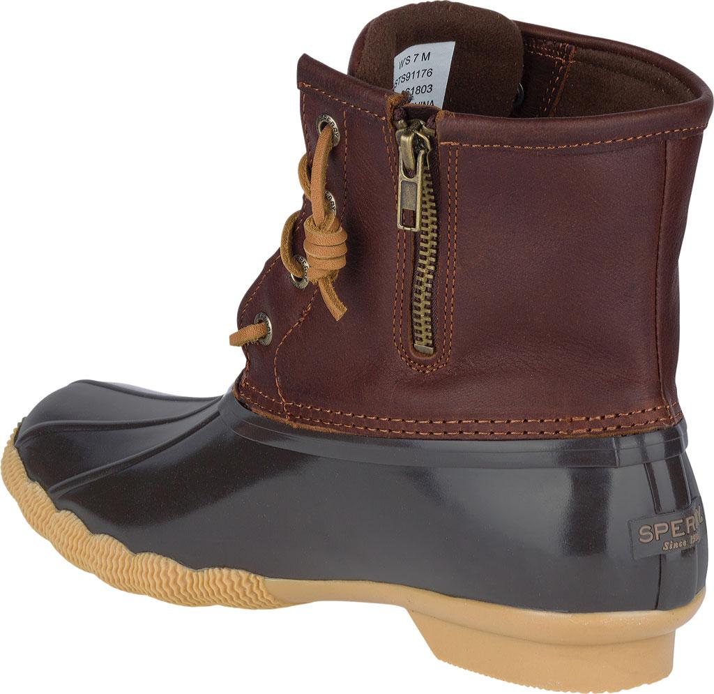 Women's Sperry Top-Sider Saltwater Duck Boot, Tan/Dark Brown, large, image 4