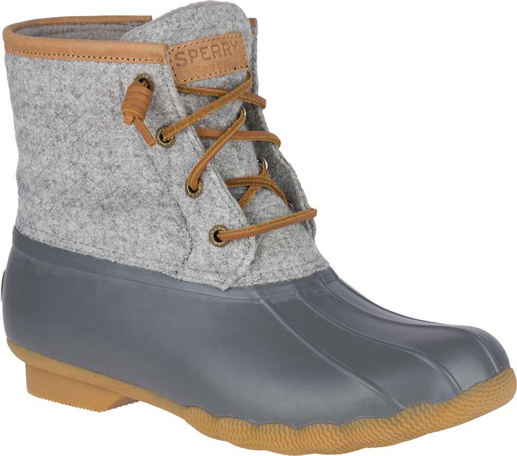 Women's Sperry Top-Sider Saltwater Duck Boot, Dark Grey Wool, large, image 1