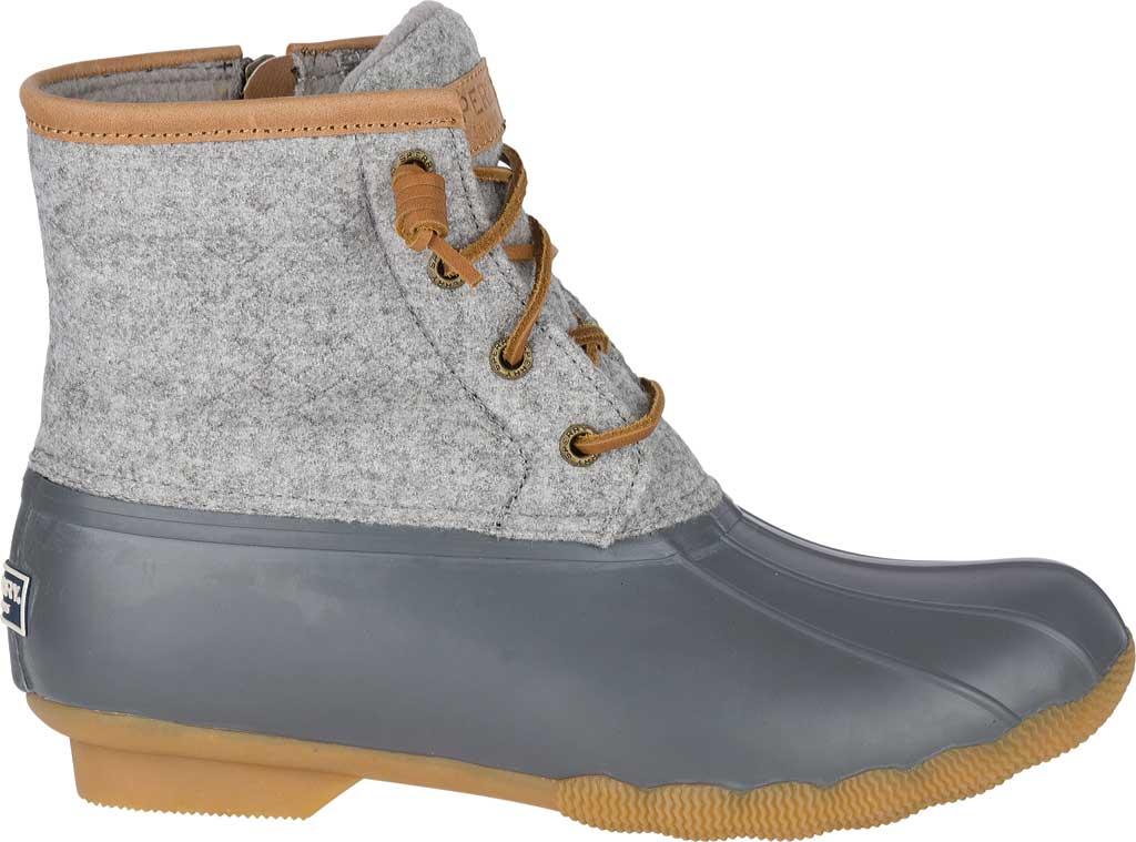 Women's Sperry Top-Sider Saltwater Duck Boot, Dark Grey Wool, large, image 2