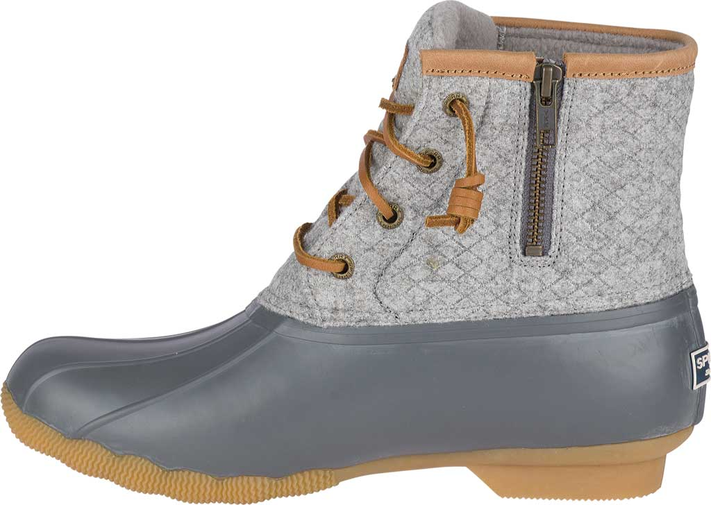 Women's Sperry Top-Sider Saltwater Duck Boot, Dark Grey Wool, large, image 3