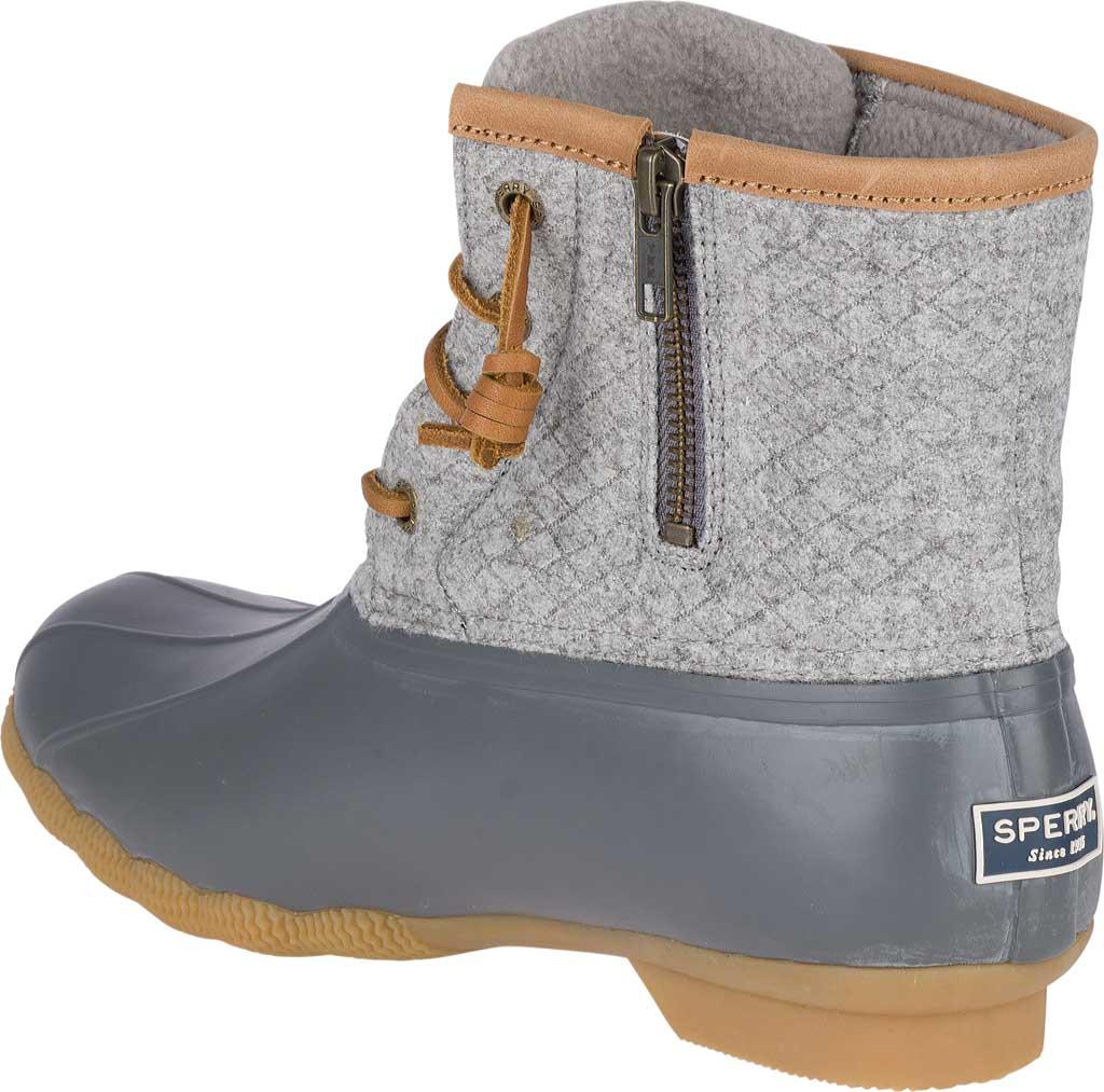 Women's Sperry Top-Sider Saltwater Duck Boot, Dark Grey Wool, large, image 4
