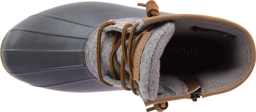 Women's Sperry Top-Sider Saltwater Duck Boot, Dark Grey Wool, large, image 5