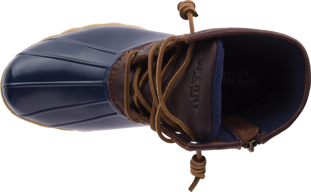 Women's Sperry Top-Sider Saltwater Duck Boot, Tan/Navy Leather/Rubber, large, image 4