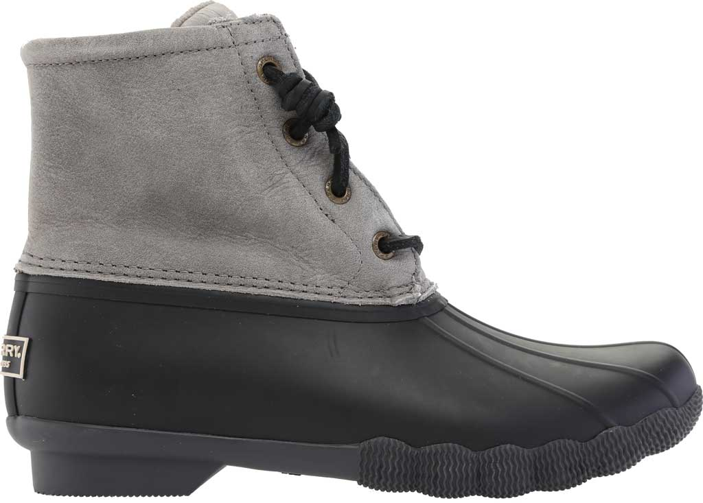 Women's Sperry Top-Sider Saltwater Duck Boot, Black/Grey Rubber/Leather, large, image 2