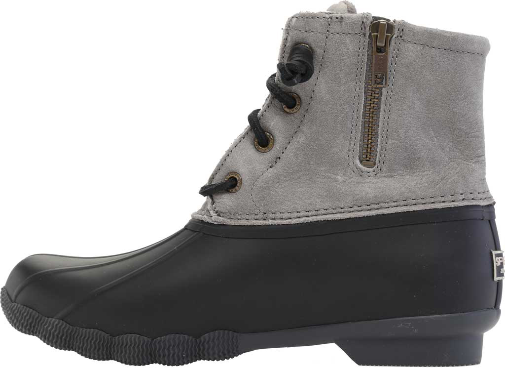 Women's Sperry Top-Sider Saltwater Duck Boot, Black/Grey Rubber/Leather, large, image 3