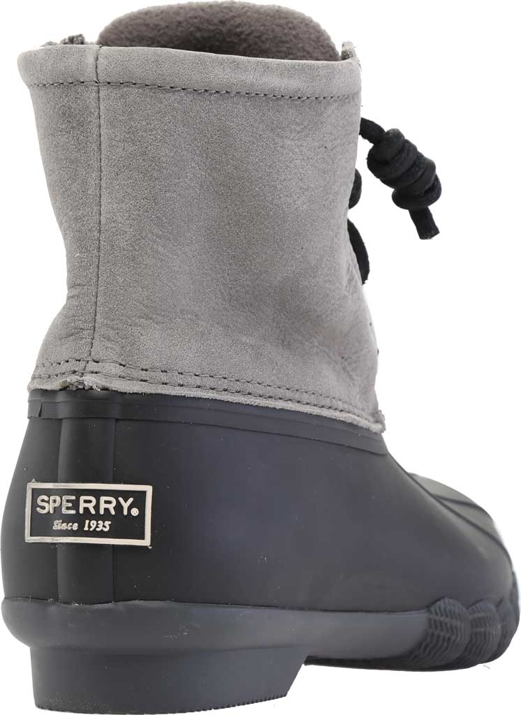 Women's Sperry Top-Sider Saltwater Duck Boot, Black/Grey Rubber/Leather, large, image 4