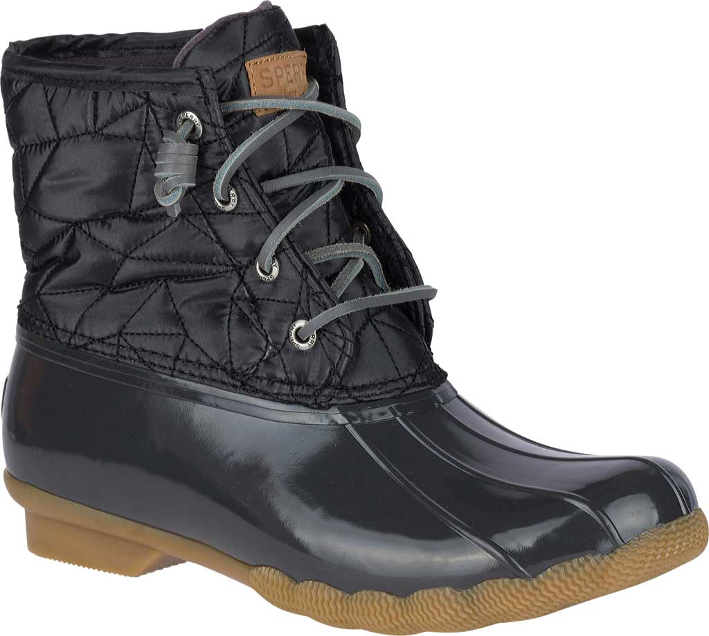 Women's Sperry Top-Sider Saltwater Duck Boot, Dark Grey Quilted Nylon, large, image 1