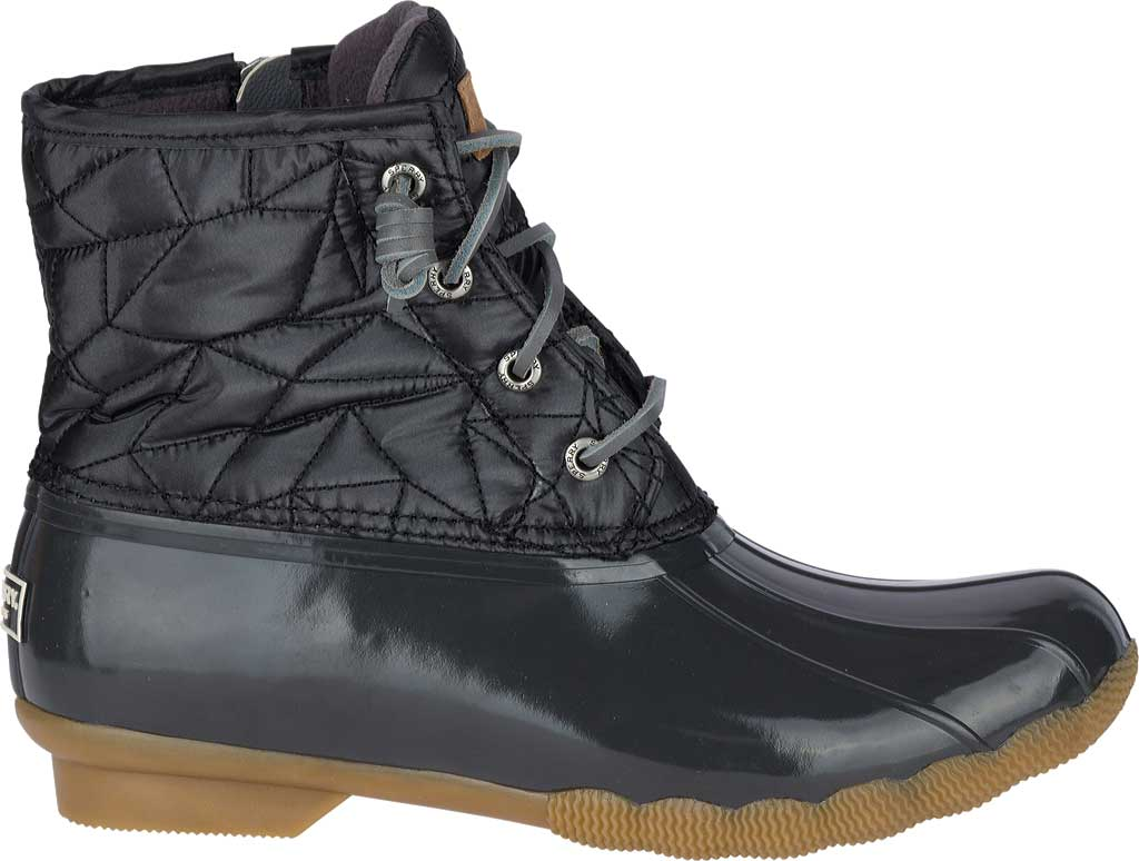 Women's Sperry Top-Sider Saltwater Duck Boot, Dark Grey Quilted Nylon, large, image 2