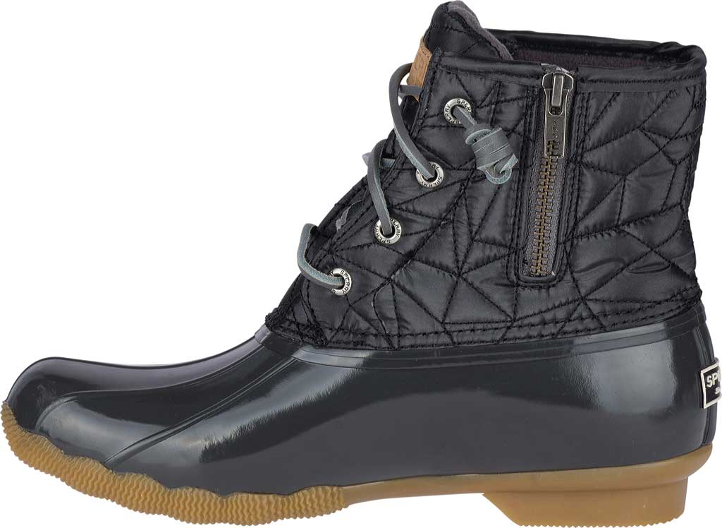 Women's Sperry Top-Sider Saltwater Duck Boot, Dark Grey Quilted Nylon, large, image 3