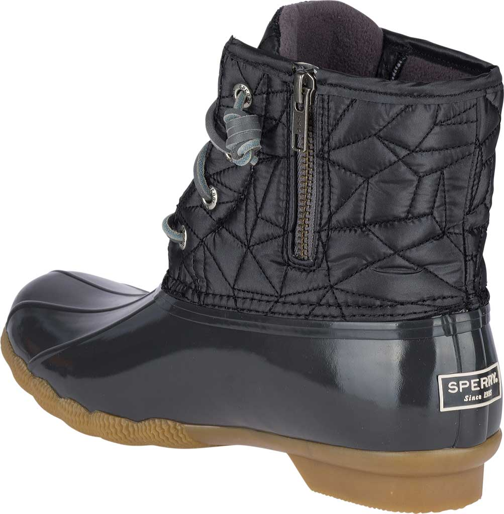 Women's Sperry Top-Sider Saltwater Duck Boot, Dark Grey Quilted Nylon, large, image 4