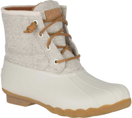 Women's Sperry Top-Sider Saltwater Duck Boot, Off White Wool, large, image 1