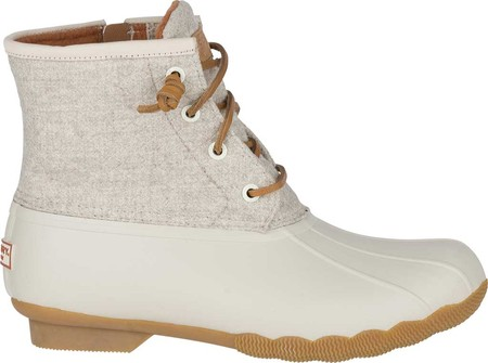 Women's Sperry Top-Sider Saltwater Duck Boot, Off White Wool, large, image 2