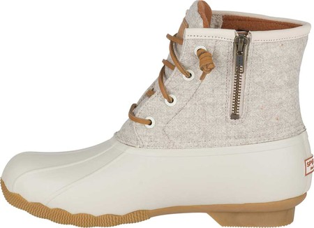 Women's Sperry Top-Sider Saltwater Duck Boot, Off White Wool, large, image 3