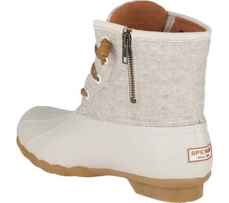 Women's Sperry Top-Sider Saltwater Duck Boot, Off White Wool, large, image 4