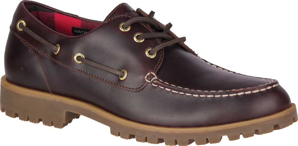 Men's Sperry Top-Sider A/O Lug 3-Eye, Amaretto Leather, large, image 1