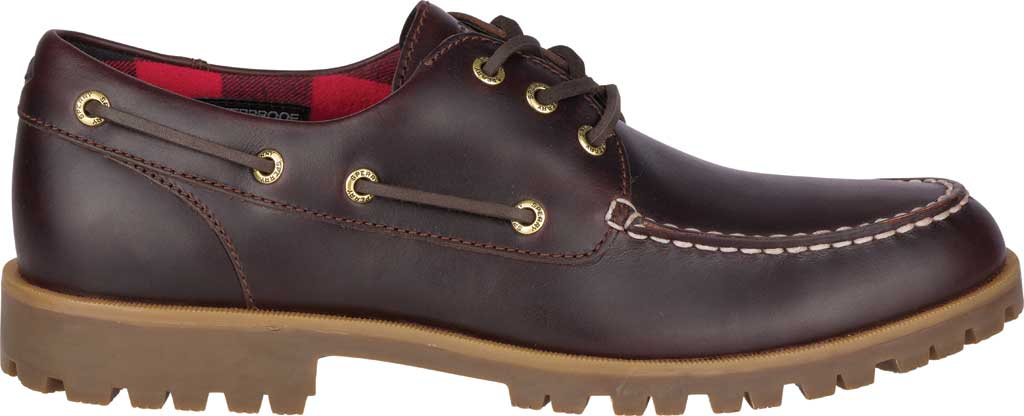 Men's Sperry Top-Sider A/O Lug 3-Eye, Amaretto Leather, large, image 2