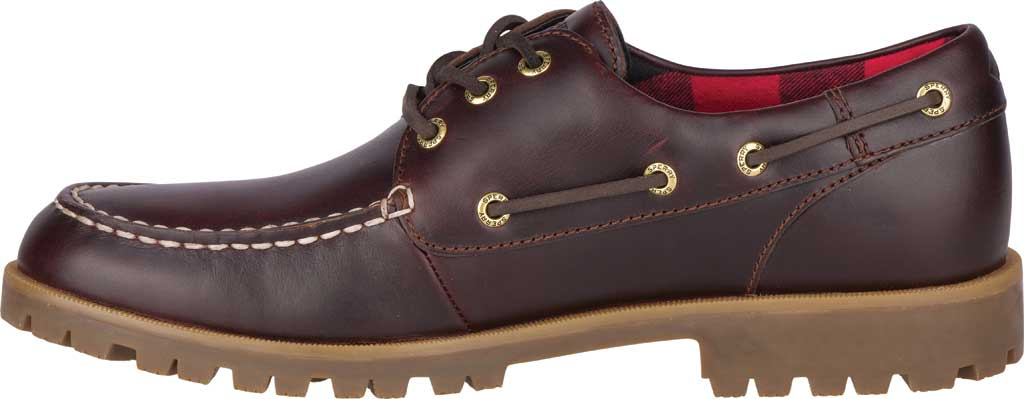 Men's Sperry Top-Sider A/O Lug 3-Eye, Amaretto Leather, large, image 3