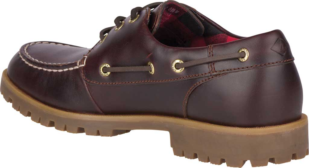 Men's Sperry Top-Sider A/O Lug 3-Eye, Amaretto Leather, large, image 4