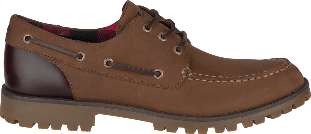 Men's Sperry Top-Sider A/O Lug 3-Eye, Brown/Buc Brown Leather, large, image 2
