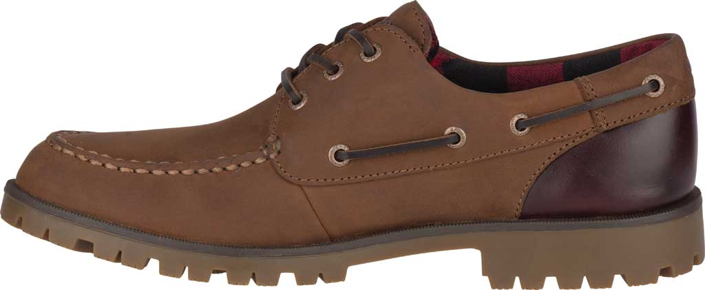 Men's Sperry Top-Sider A/O Lug 3-Eye, Brown/Buc Brown Leather, large, image 3