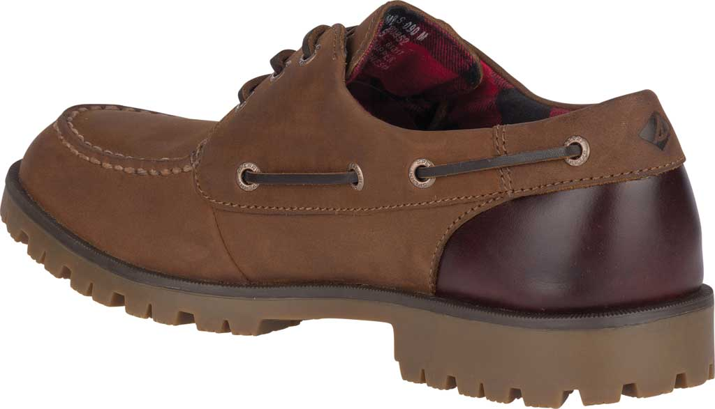 Men's Sperry Top-Sider A/O Lug 3-Eye, Brown/Buc Brown Leather, large, image 4