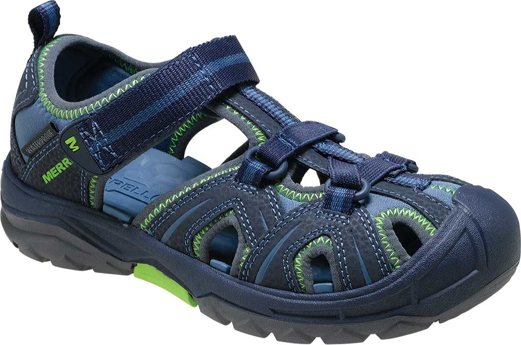 Infant Merrell Hydro Sandal, Navy/Green Synthetic, large, image 1