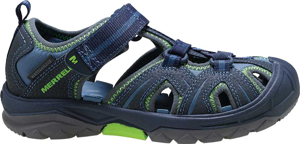 Infant Merrell Hydro Sandal, Navy/Green Synthetic, large, image 2