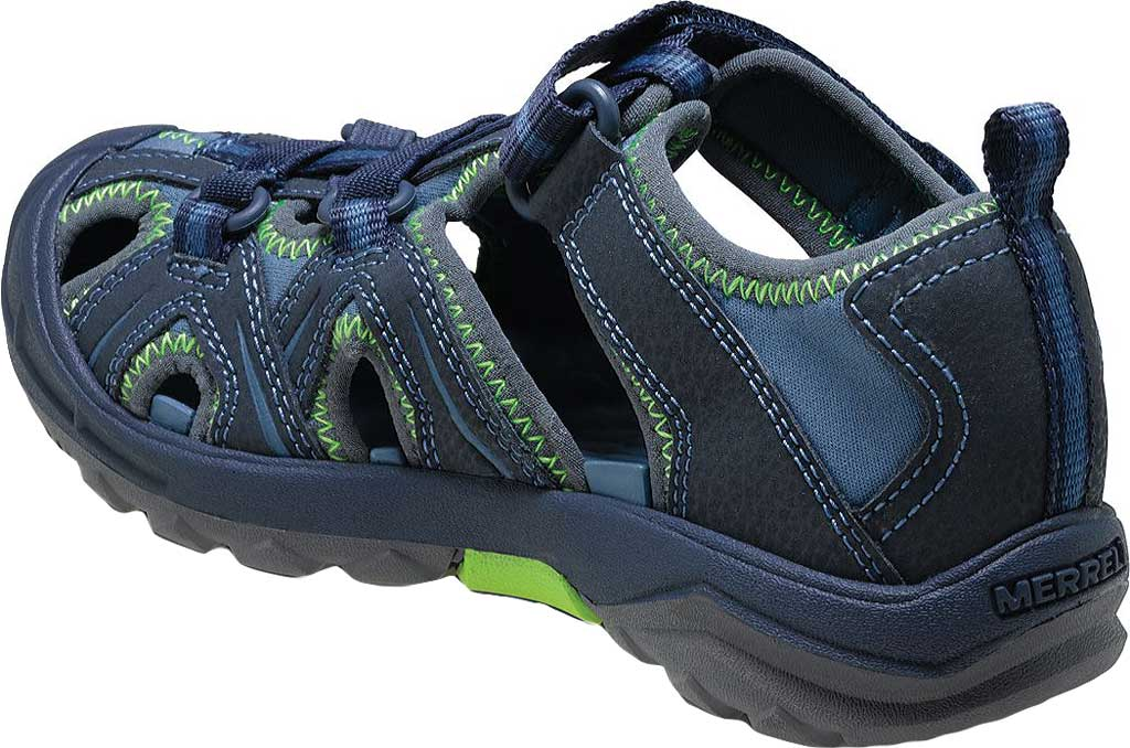 Infant Merrell Hydro Sandal, Navy/Green Synthetic, large, image 3