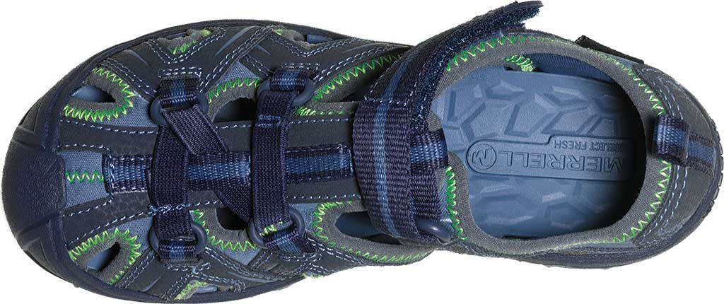 Infant Merrell Hydro Sandal, Navy/Green Synthetic, large, image 4