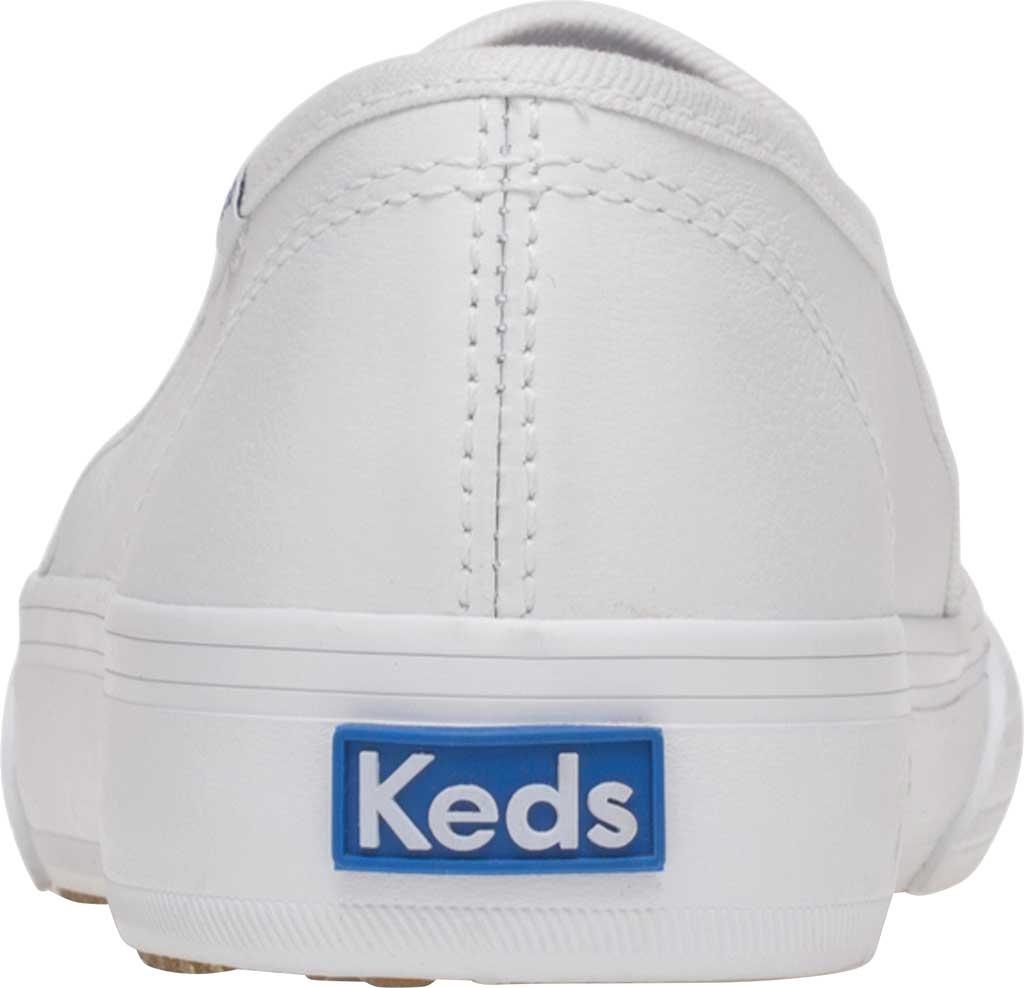 Women's Keds Double Decker Slip-On, White Leather, large, image 3
