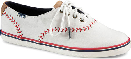 Women's Keds Champion Pennant, Off White Canvas, large, image 1