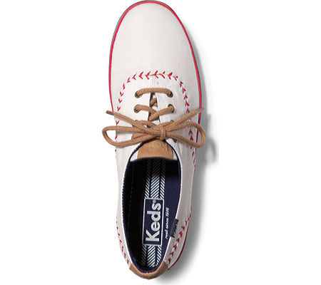 Women's Keds Champion Pennant, Off White Canvas, large, image 3