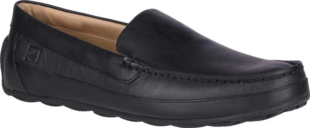 Men's Sperry Top-Sider Hampden Venetian, Black Leather, large, image 1
