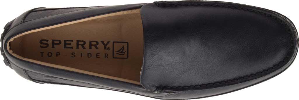 Men's Sperry Top-Sider Hampden Venetian, Black Leather, large, image 5