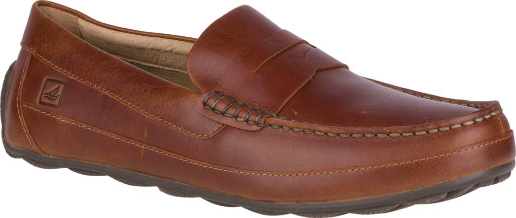 Men's Sperry Top-Sider Hampden Penny, Tan Leather, large, image 1