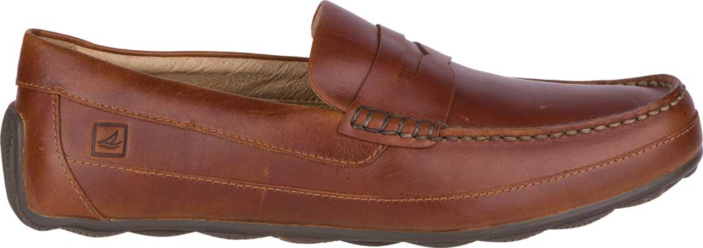 Men's Sperry Top-Sider Hampden Penny, Tan Leather, large, image 2