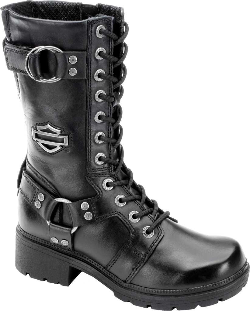 Women's Harley-Davidson Eda, Black Leather, large, image 1