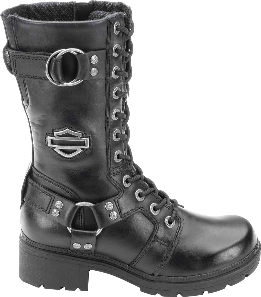 Women's Harley-Davidson Eda, Black Leather, large, image 2