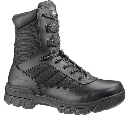 "Men's Bates 8"" Strike Side Zip Boot, Black Leather/Nylon, large, image 2"