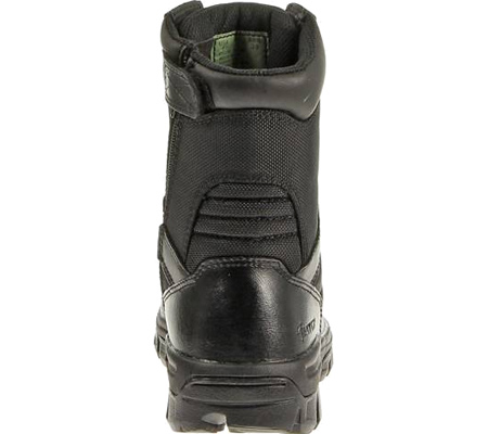 "Men's Bates 8"" Strike Side Zip Boot, Black Leather/Nylon, large, image 3"