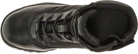 "Men's Bates 8"" Strike Side Zip Boot, Black Leather/Nylon, large, image 4"