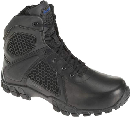 "Men's Bates 6"" Strike Side Zip Boot, Black Leather/Nylon, large, image 1"