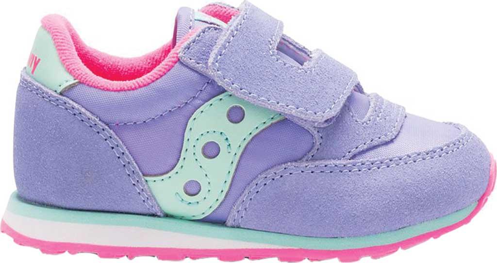 Infant Girls' Saucony Baby Jazz Hook-and-Loop Sneaker, Periwinkle Suede/Mesh, large, image 2