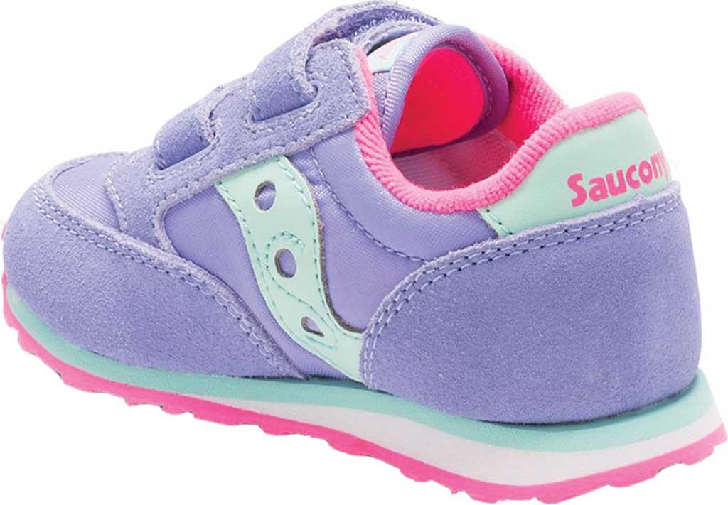 Infant Girls' Saucony Baby Jazz Hook-and-Loop Sneaker, Periwinkle Suede/Mesh, large, image 3