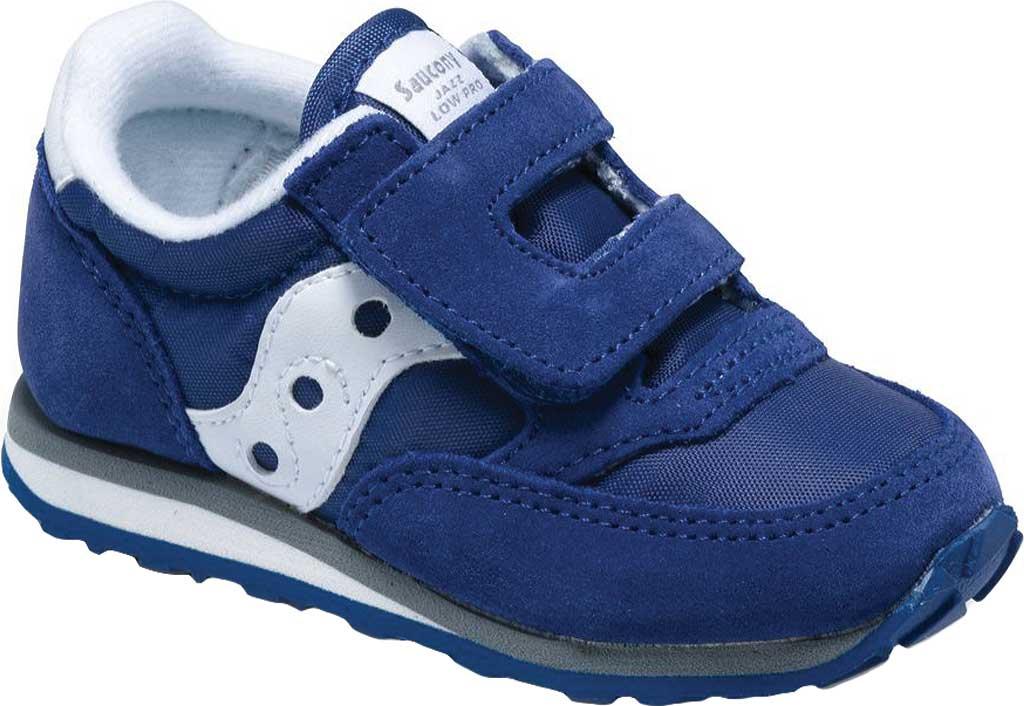 Infant Boys' Saucony Baby Jazz Hook-and-Loop Sneaker, Cobalt Blue, large, image 1