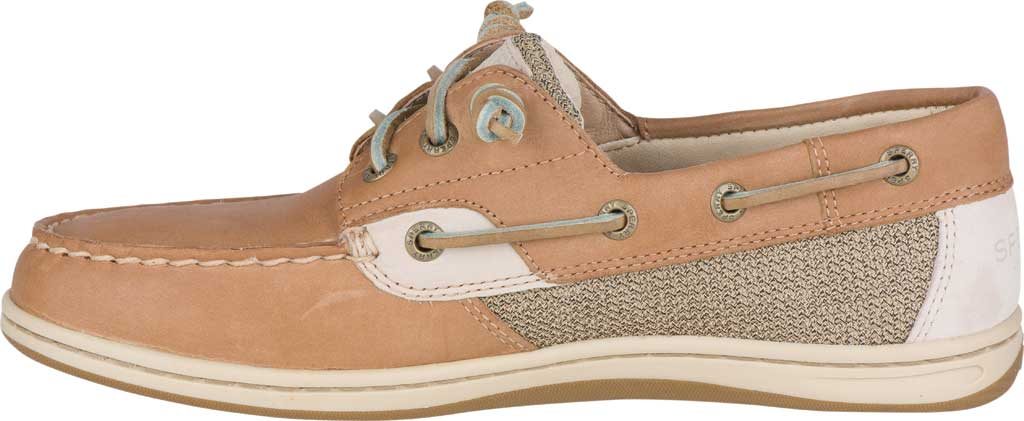 Women's Sperry Top-Sider Songfish Core Boat Shoe, Linen/Oat Leather/Textile, large, image 3